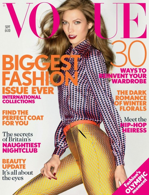 Karlie Kloss photographed by Nick Knight for Vogue UK, September 2012. <br /><br /> This is the best Vogue cover there's been in a while, I wanted to buy it so much earlier but i'm ridiculously low on money so had to stop myself :(