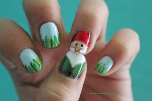 nailsandotherdrugs:</p> <p>Well.. I tried, it's supposed to be a lawn gnome.</p> <p>It definitely is a lawn gnome, and a cute one at that!