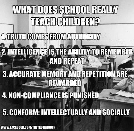 What does school really teach children?