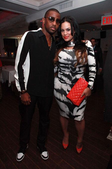 Wardrobe Query: Emily B's Trey Songz Album Release Party Alexander McQueen Zebra Print Dress