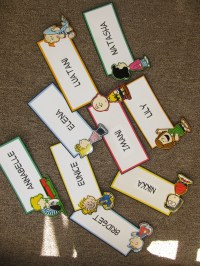 If Martha Stewart was a Resident Assistant... - Door tags!!!