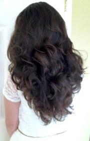 sock bun curls long thick hair