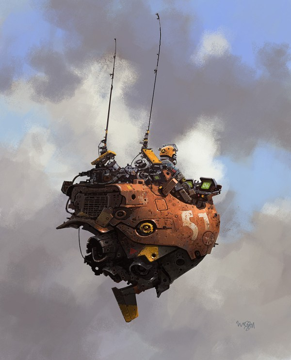 Geek Art Illustration Robots And Flying Machines