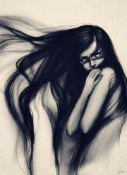 illustration art artist woman long