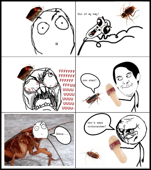 meme scared of bugs