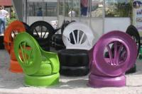 Recycled Tire Chairs