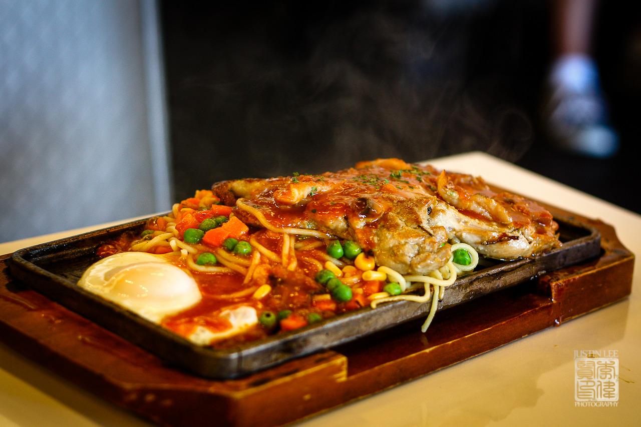 Rosemary chicken steak sizzling platter 迷迭香鷄排