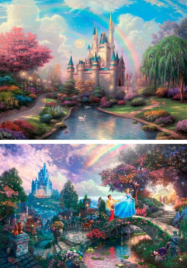 Disney Thomas Kinkade Cinderella Painting