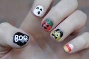 halloween themed nail art