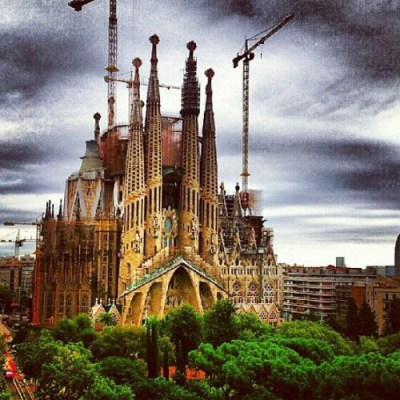 la sagrada familia, barcelona, spain, travel, wandering