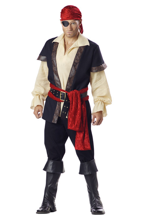A man's pirate costume