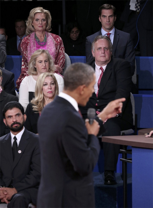 Josh Romney in the audience of tonight's debate.