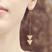 hipster triangles (Arrow Triangle Earrings, $15)