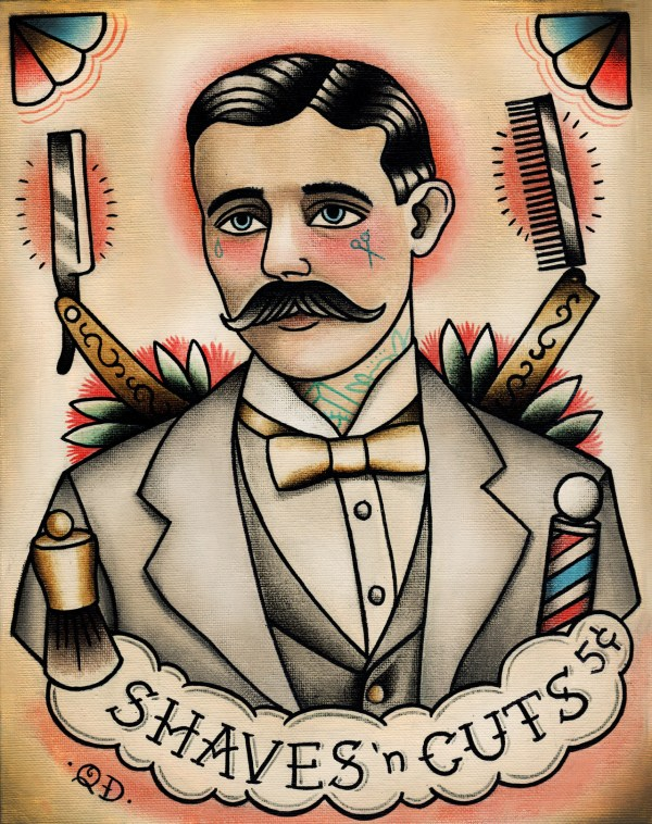 Traditional Barber Tattoo