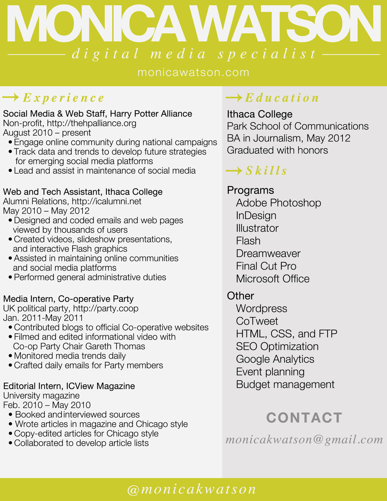 Entry level Professional resume and Guerrilla on Pinterest