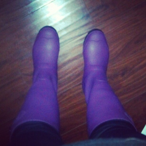 @KamikOutdoor Jennifer Rain Boots in plum. Hasn't rained yet, but I love these! Review coming soon at StorybookApothecary.com!
