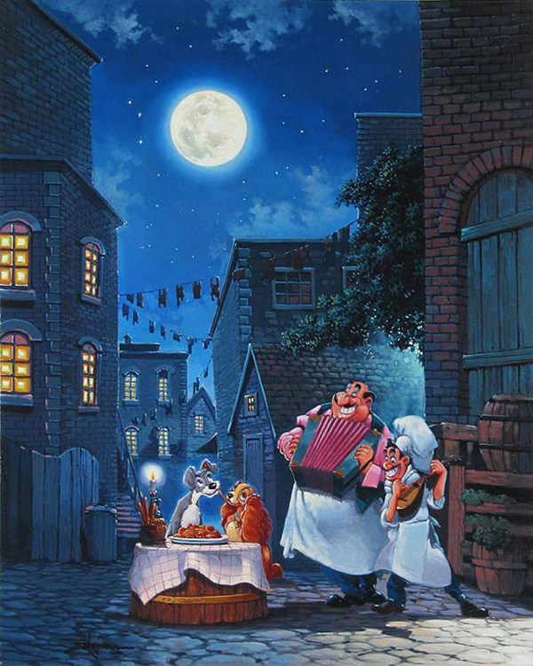 Beautiful Night Lady and the Tramp