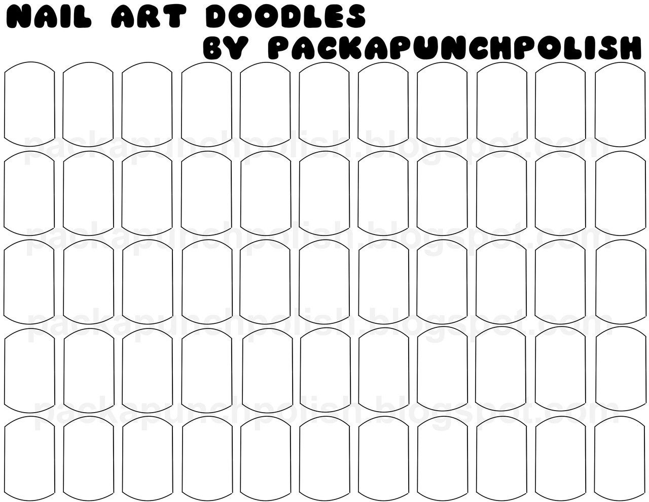 Pack A Punch Polish • I made nail art doodle sheets! I