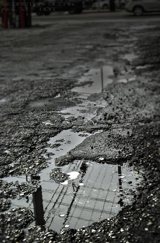 Rainy Alley Photograph by Sebastian Bleak