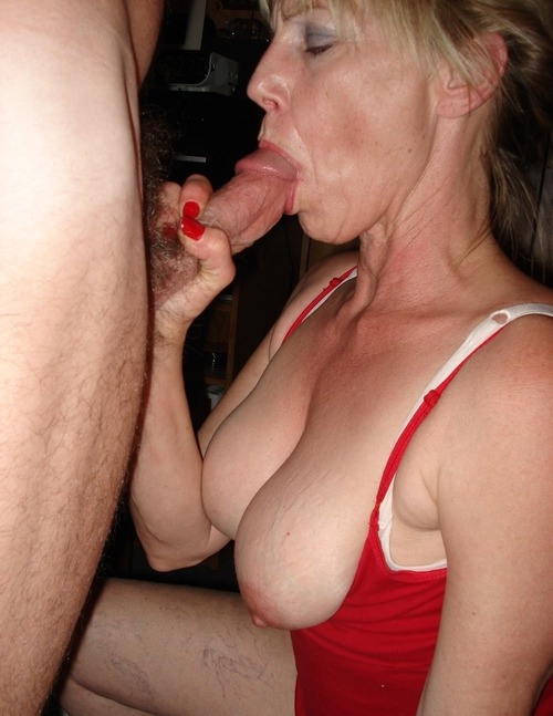 jerked off from behind mature cum
