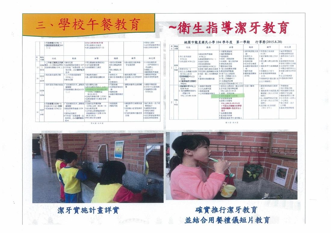 4.衛生指導 - 104學年度龍星國小午餐網頁