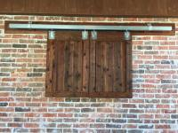 Barn Door Style Outdoor TV Cabinet | Remodeling Contractor ...