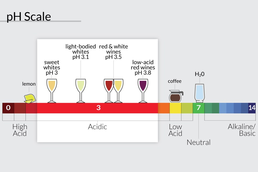 medium resolution of ph scale showing where lemons wine coffee and water are