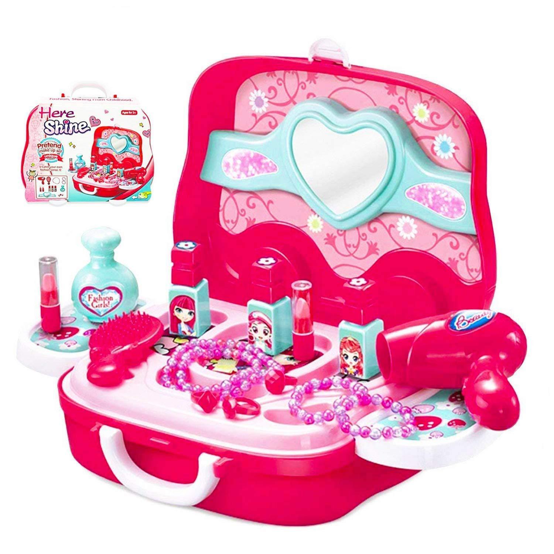 Makeup Little Girls Pretend Kit Cosmetic Play Set Kids