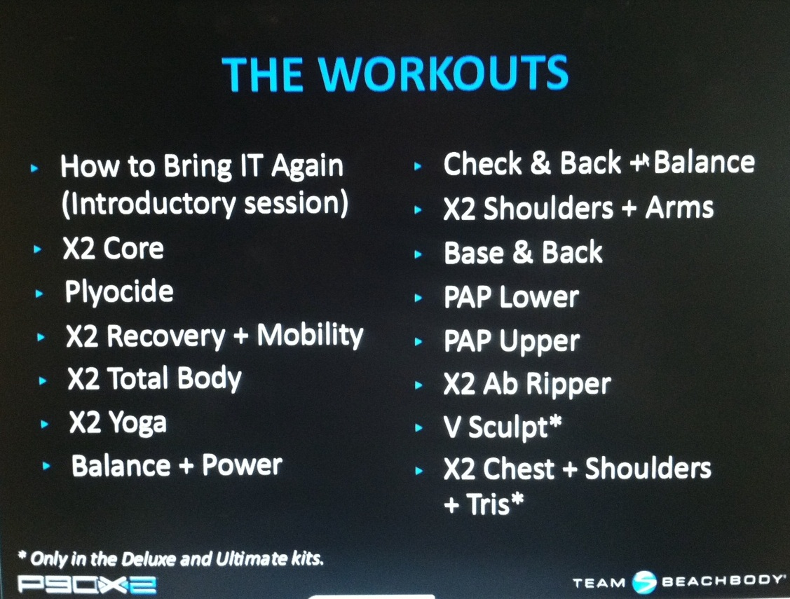 P90x2 Is Here