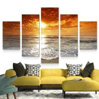 Canvas Wall Decor HD Canvas Printed Modern Paint Wall ...