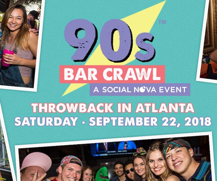 Atlanta 90s Bar Crawl 2018 Saturday September 22nd