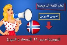 النرويجية-درس 11 (الأسماء و المهن)