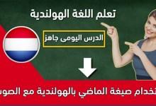 استخدام صيغة الماضي بالهولندية مع الصوت3