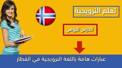 عبارات هامة باللغة النرويجية في القطار