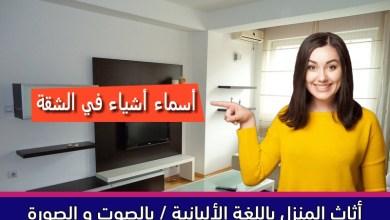 أثاث المنزل باللغة الألبانية / بالصوت و الصورة