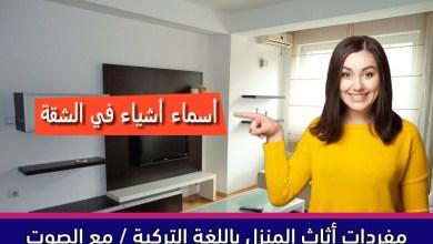 مفردات أثاث المنزل باللغة التركية / مع الصوت