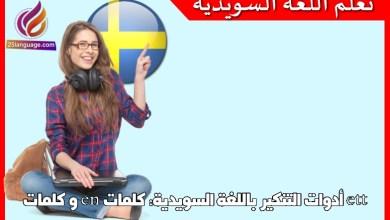 أدوات التنكير باللغة السويدية: كلمات en و كلمات ett