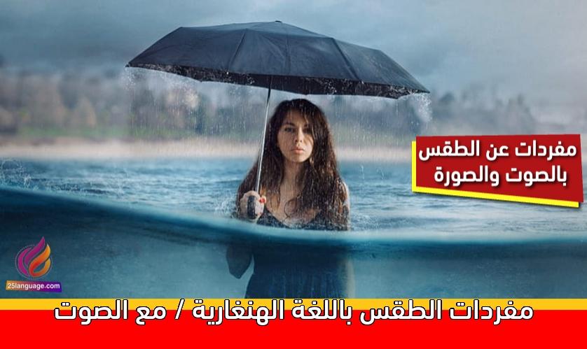 مفردات الطقس باللغة الهنغارية / مع الصوت