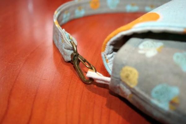 Pea Green Boat Wristlet - brass swivel hooks