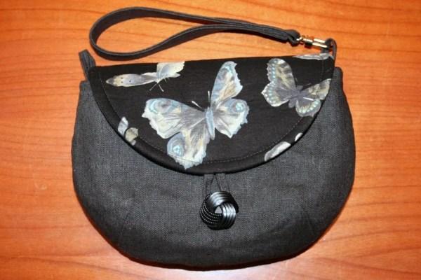 YSG! Grey Linen Butterflies Wristlet 01