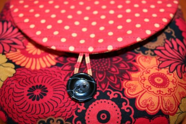 Summer Heat Wristlet - button loop