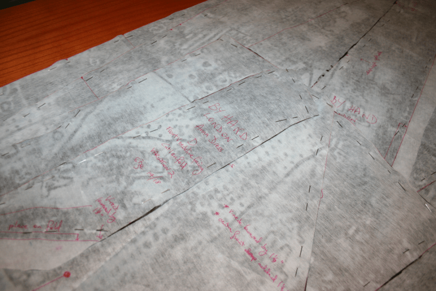 All pattern pieces cut and marked, ready to sew