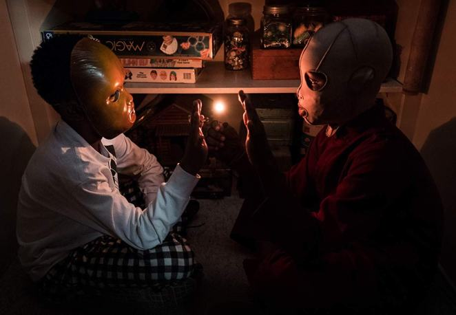 Jason Wilson and his doppelganger Pluto play a dangerous game with matches.