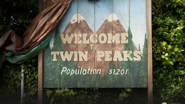 The Welcome to Twin Peaks town sign