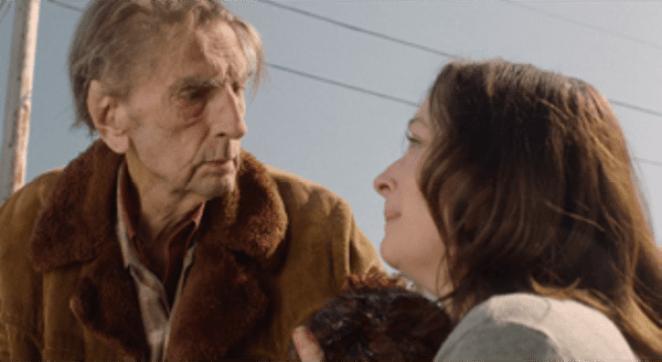 Lisa Coronado with Harry Dean Stanton in Twin Peaks shocking scene