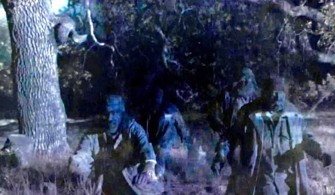 ghostly woodsmen come to save evil Cooper