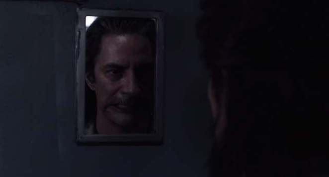 Cooper sees Bob in his reflection Twin Peaks the Return