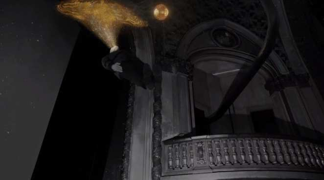 A golden orb is formed from the gold dust created by The Fireman