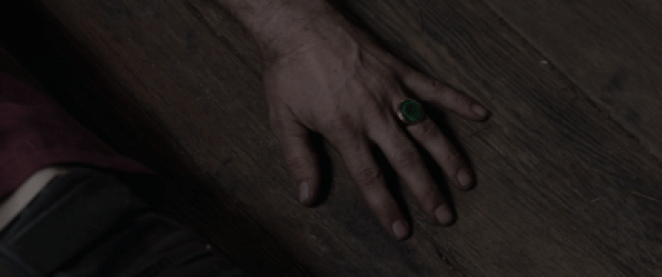 Ray wears the owl cave ring