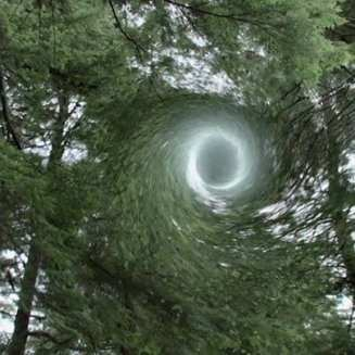 a vortex above jack rabbits palace in the trees